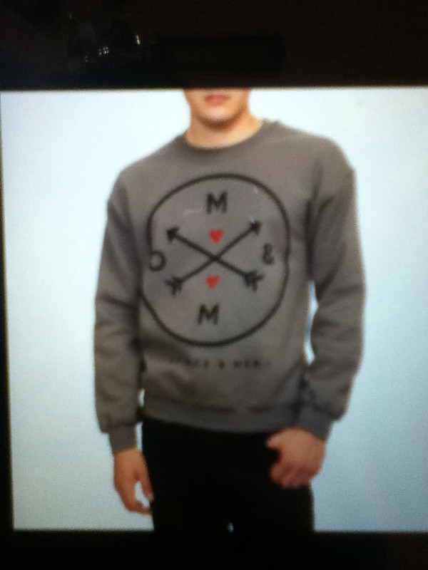 sweater grey sweater of mice and men red hearts arrows menswear