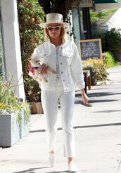 shoes,all white everything,ashley tisdale,streetstyle,pants,jacket,celebrity
