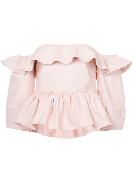 Apiece Apart blouse women spandex cotton purple pink top