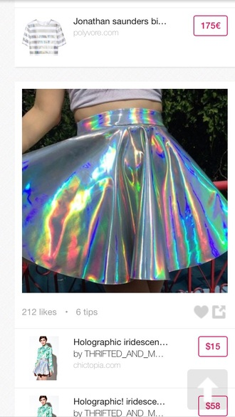 skirt holographic holographic skirt