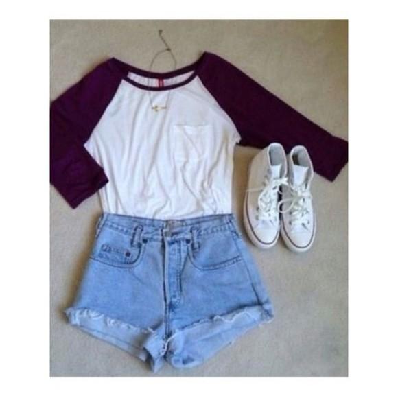 t-shirt girly baseball tee pocket burgundy pocket shirt