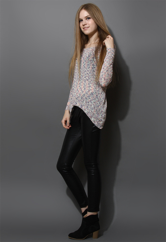 pants faux leather leggings black