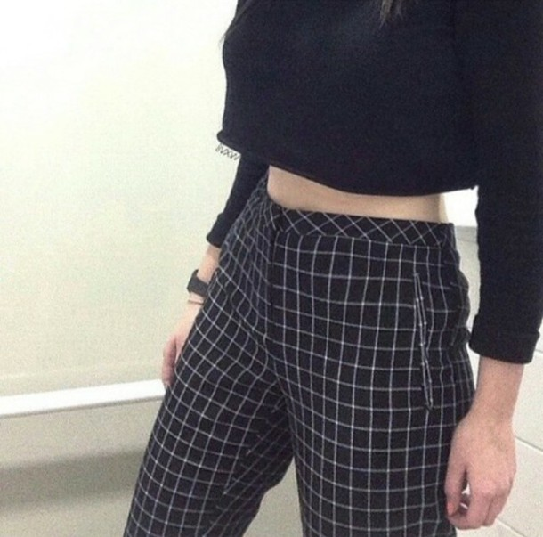 jeans pants black and white