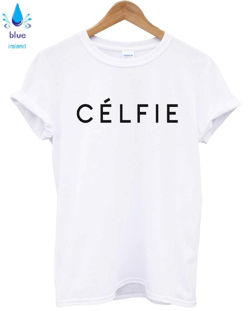 CELFIE T SHIRT WHITE CELINE VOGUE TOP UNISEX WOMEN MEN SWAG DOPE HIPSTER ALONE | eBay