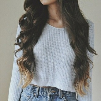 sweater jumper cropped crop winter outfits spring knitted tumblr