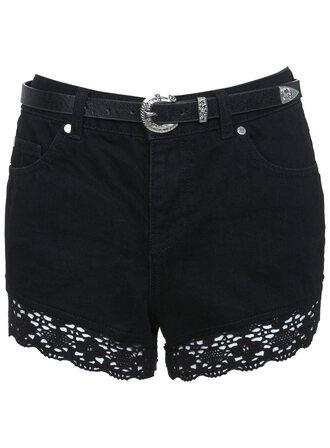 shorts black goth hipster goth grunge detailed