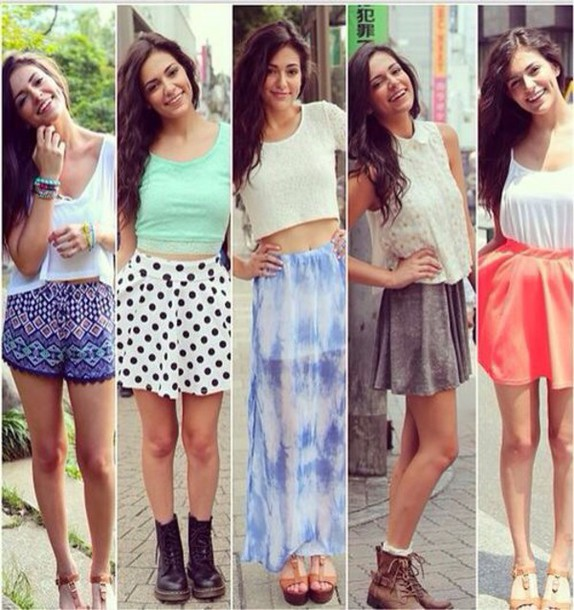 shirt shorts shoes skirt blouse