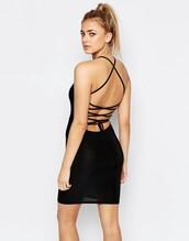 dress,little black dress,bodycon dress,backless dress
