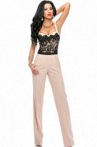 jumpsuit classy party wots-hot-right-now sweetheart neckline lace tops trendy sexy sexy jumpsuit evening jumpsuit