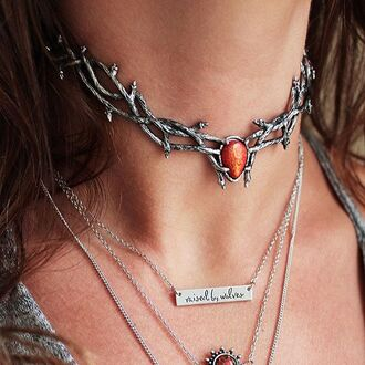 jewels shop dixi gypsy boho bohemian hippie grunge jewelery jewelry sterling silver choker necklace necklace