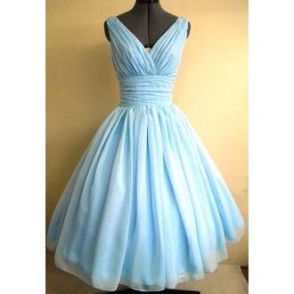 dress blue dress baby blue vintage dress