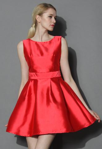 dress chicwish party dress ruby dress open-back dress flare dress chic chicwish.com chic muse