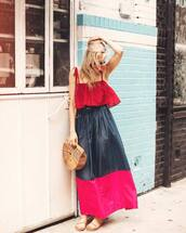 bag,dress,long dress,summer dress,colorful,shoes