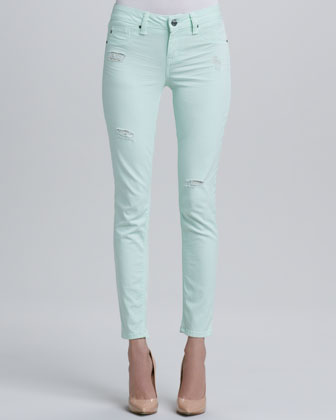 Sold Denim Sterling Street Light Cantaloupe Skinny Jeans - Neiman Marcus