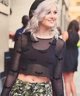 blouse perrie edwards girls hbo tumblr shirt transparent batman black underwear