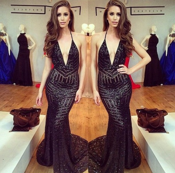 dress black gown similar gown