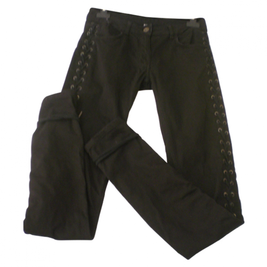 Laced black jeans SANDRO Black size 36 FR in Cotton All seasons - 518242