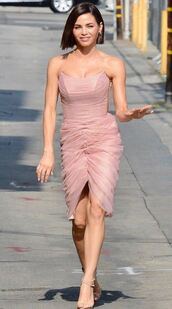 shoes,sandals,bustier,bustier dress,jenna dewan