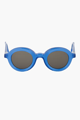 Mykita Misty Blue Emil Sunglass for women | SSENSE