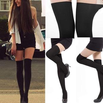 2014 moda mujeres sexy negro tintados sheer falso alta stocking panti medias del tatuaje en medias de moda y complementos mujer en aliexpress.com