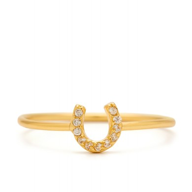 Shimmer horseshoe ring