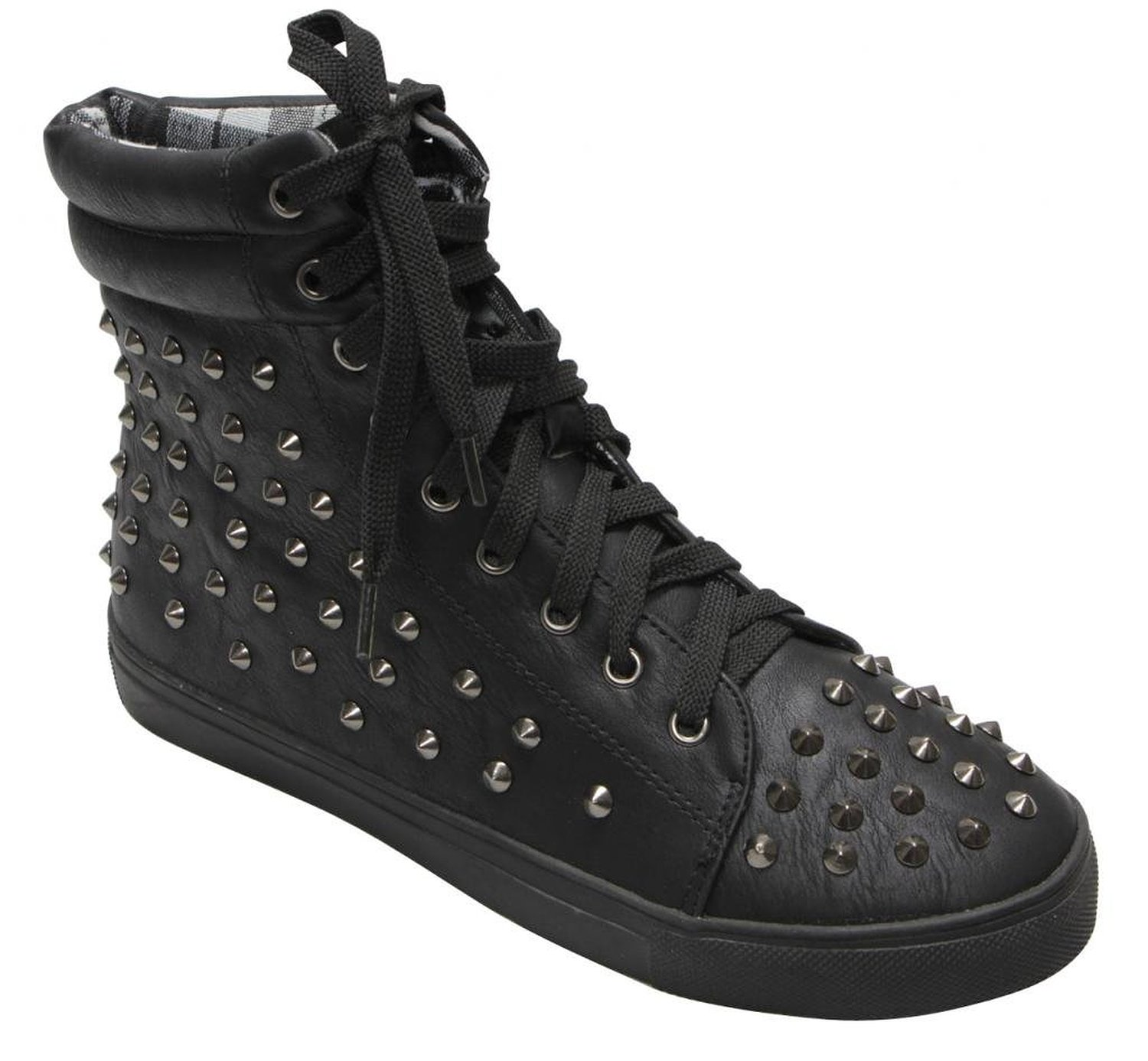 Amazon.com: cape robbin olivia women's metal spike stud high top lace up sneaker punk booies: shoes