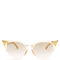 Embellished cat-eye metal sunglasses