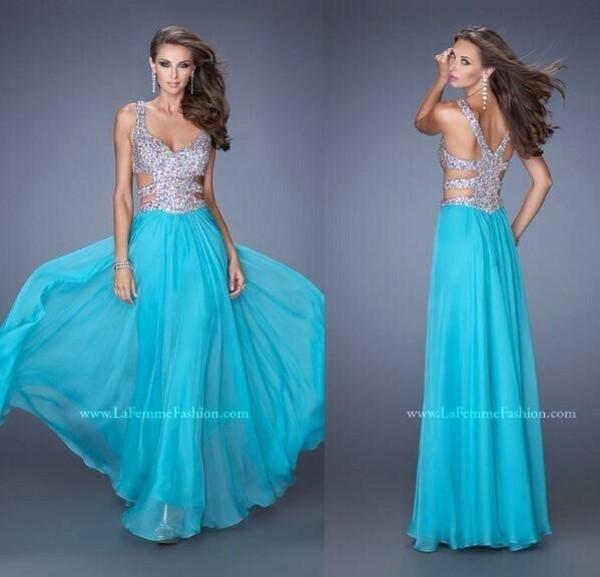 dress blue dress sparkle long prom dress silver dress