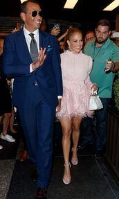dress,pink,jennifer lopez,mini dress,celebrity style