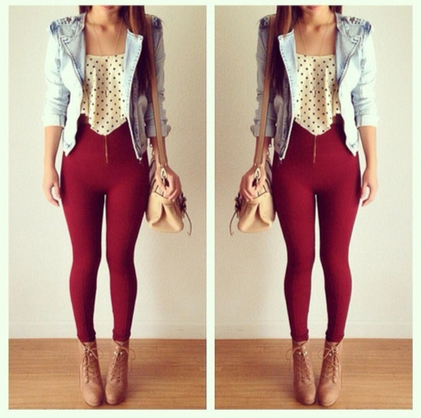 Pants Red Valentines Day Cute Outfit Jacket Wheretoget