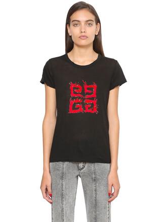 t-shirt shirt cotton black red top