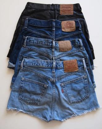 shorts levi's denim vintage shorts high waisted shorts