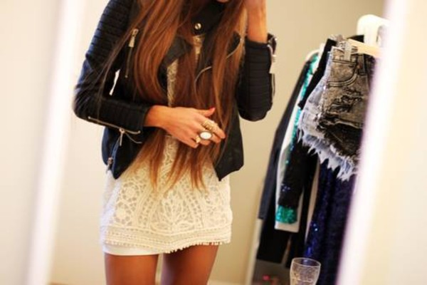 dress girl summer cute white jacket black leather white dress mini dress beautiful fashion short dress lace gold party veste bijoux t-shirt robe colorful lace dress test black jacket cardigan trest blouse home accessory