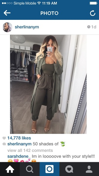 pants asos fashion style army green pants