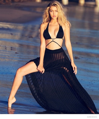 swimwear cut-out swimsuit black high waisted high waisted bikini gigi hadid