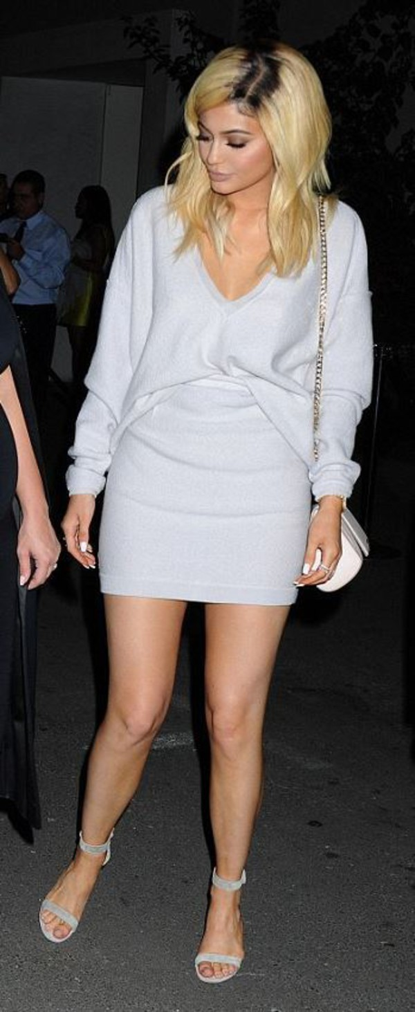 Sweater: tunic dress, knitwear, sweater dress, kylie jenner ...