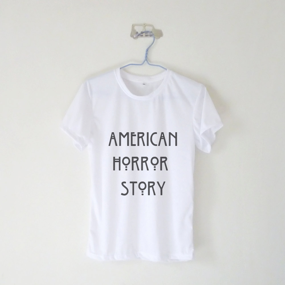 American horror story women's tshirt / 17 colors: black white grey brown green blue pink purple yellow
