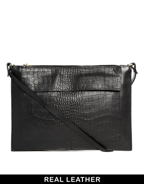 Warehouse | Warehouse Flat Leather Envelope Bag at ASOS