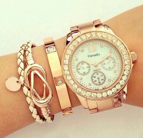 jewels watch gold bracelets rose gold Juwels