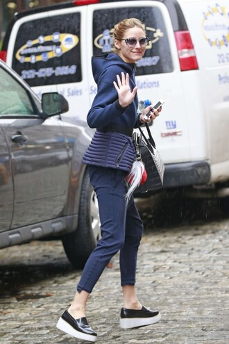 shoes pants olivia palermo jacket navy spring outfits blogger