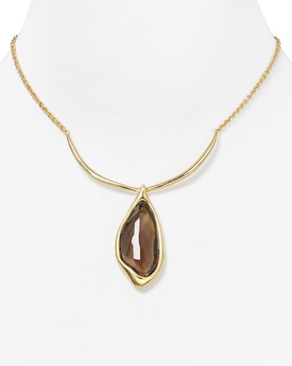 jewels alexis bittar smoky quartz infinity drop collar necklace collar necklace necklace