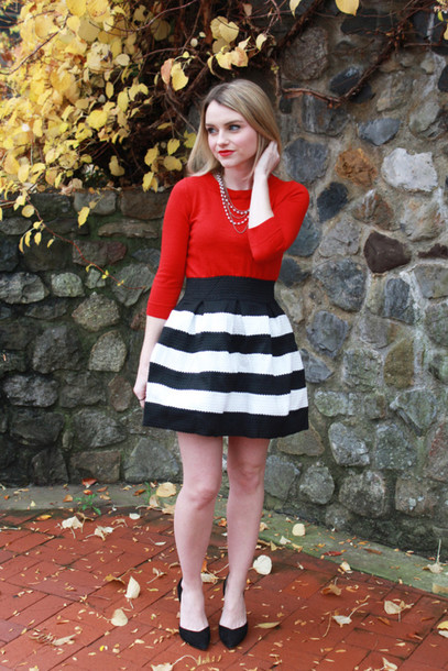 poor little it girl skirt sweater jewels shoes