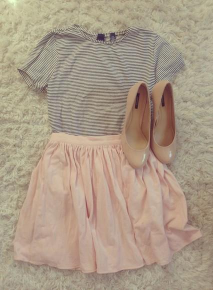 high heels skirt top
