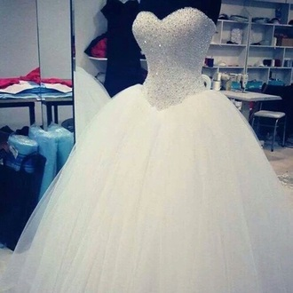 dress wedding dress diamonds