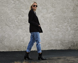 jeans jacket blogger platinum and penniless casual