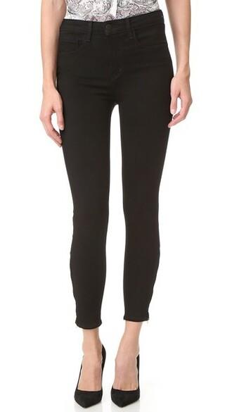 jeans high noir