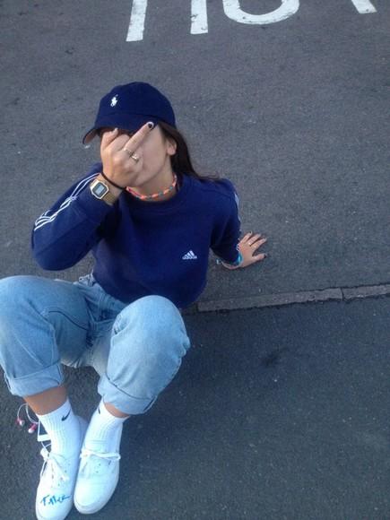 adidas navy top