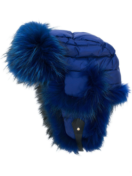 Liska fur fox women hat blue