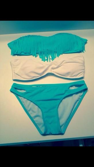 swimwear bikini blue swimwear fashion colorful clothes