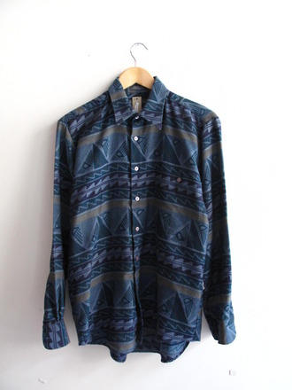 shirt jacket aztec blue boy girl